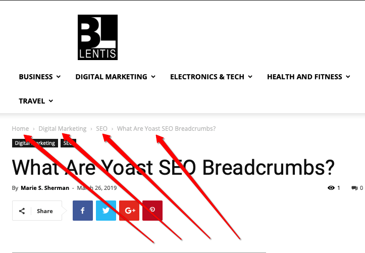 What Are Yoast SEO Breadcrumbs? - BillLentis.com