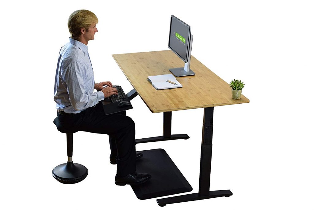 Rise Up Electric Bamboo Standing Desk - BillLentis.com