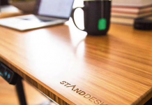 Bamboo Standing Desk - BillLentis.com