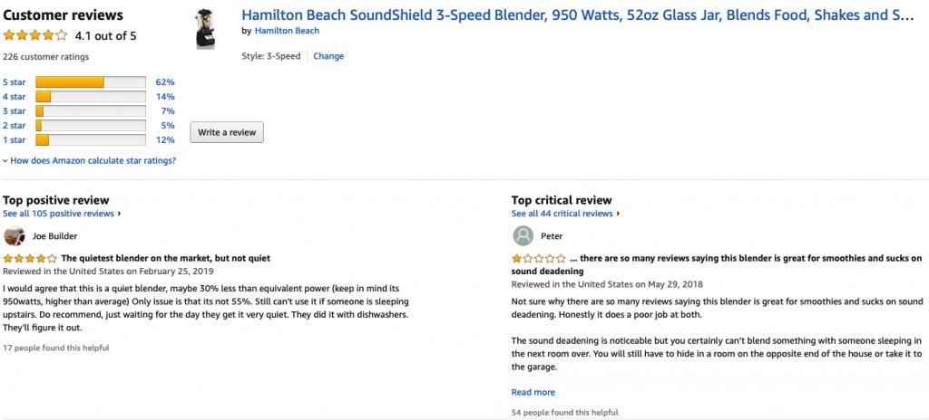 Hamilton Beach SoundShield 53600-comentaris de clients
