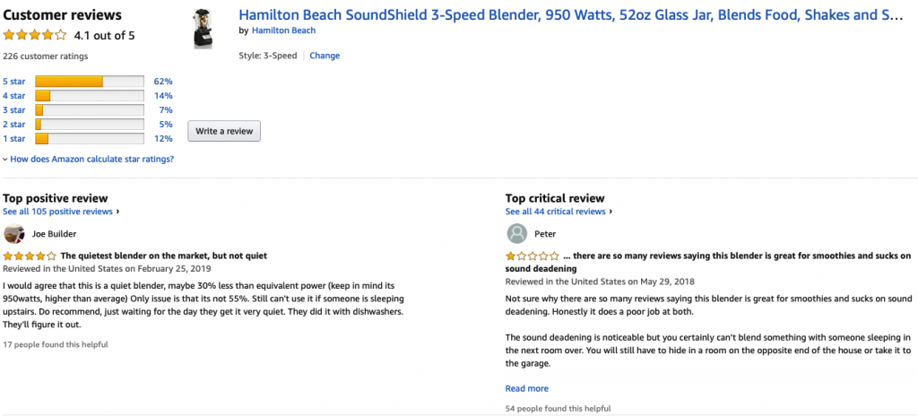 Hamilton Beach SoundShield 53600 - Customer Reviews