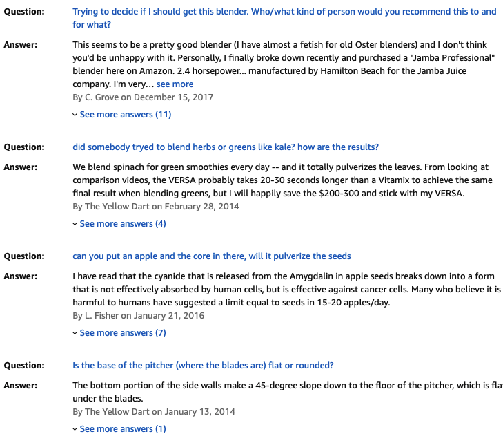 ออสเตอร์ Versa Pro Series - คําถามและคําตอบของลูกค้า - บิล Lentis สื่อ