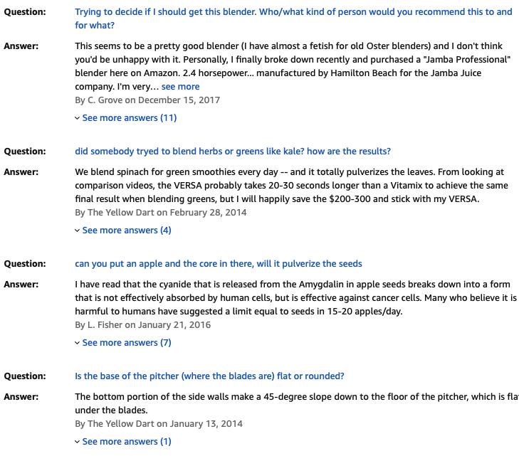 Oster Versa Pro Series - Customer Questions & Answers - Bill Lentis Media